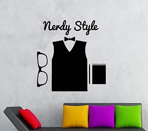 Pbldb Wandaufkleber Vinyl Aufkleber Hipster Nerdy Style High Fashion Brille 78X82Cm