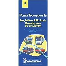 Paris Transports. Bus, Métro, RER, Taxis, 1/20 000
