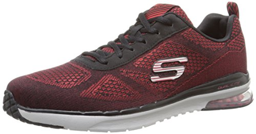 Skechers Air-Infinity, Chaussures de Sport Homme rouge (RDBK)