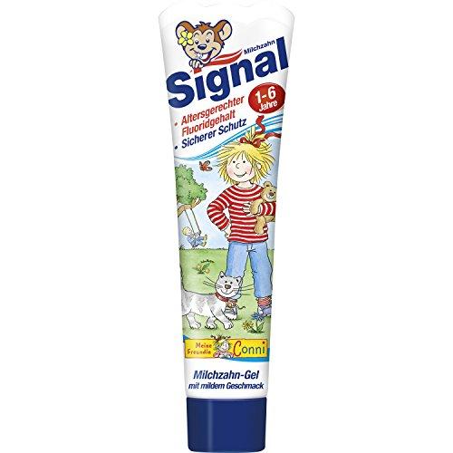 Signal Milchzahn-Gel Zahnpasta, 3er Pack (3 x 50 ml) (Enzym-gel)