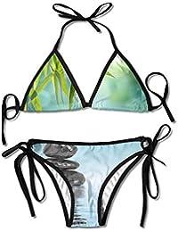 Zen Stones And Bamboo Bikini Women s Summer Swimwear Triangle Top Bikinis  Swimsuit Sexy 2-Piece ac571e16df3d