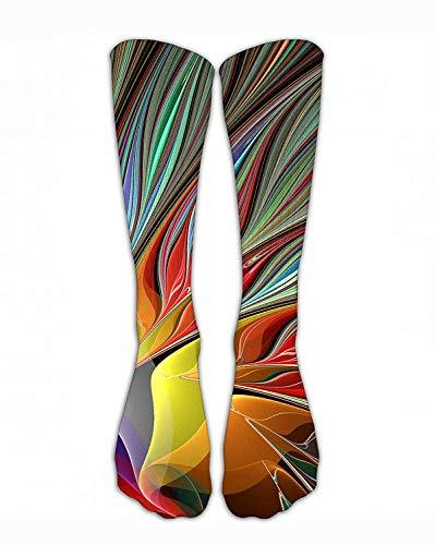 Jxrodekz Crew Sock Tie Dye Bird Crew Sportliche Socken Mode Personalisierte Neuheit Lustige Strümpfe Männer Frauen