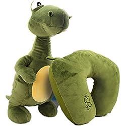 bebe cocoon Animal suave juguetes cambiable almohada de viaje de cuello de almohada U-Pillow (dinosaurio)