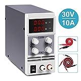 Fuente de Alimentación Regulable, Doris Direct 0-30V 0-10A Alimentacion Regulables DC Digital Ajustable Transformador, para Laboratorio, reparación General