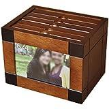 Regalos festivos Caja de madera del álbum de foto 6 pulgadas de madera sólida de la foto creativa de la boda Caja de fotos intersticial caja de almacenamiento Fase delgada regalo creativo ( Tamaño : A )