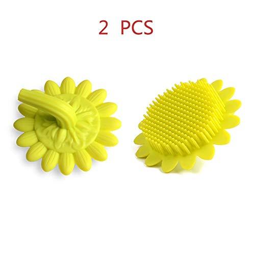 Neue Medizinische Peelings (Hyuhome Silikonkörperbürste Kindermassagebürste Silikonbadkörperbürste 100% reines Silikonmaterial Gesunde Hautpflegebürste Perfekt für Kinder, Erwachsene Schonendes Peeling,Yellow)