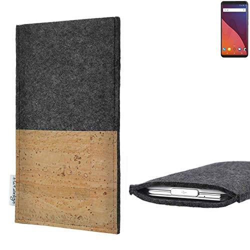 flat.design vegane Handy Hülle Evora für Wiko View 32 GB Kartenfach Kork Schutz Tasche handgemacht fair vegan