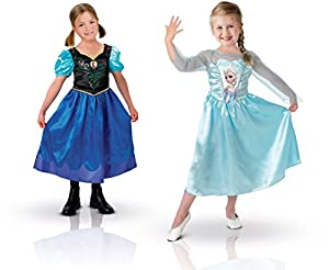 Rubies Costume Company Frozen - Disfraz Anna y Elsa - Talla M