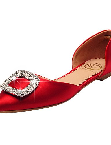 WSS 2016 Chaussures de mariage-Rouge-Mariage / Habillé / Soirée & Evénement-D'Orsay & Deux Pièces / Bout Pointu / Bout Fermé-Plates-Homme red-us6.5-7 / eu37 / uk4.5-5 / cn37