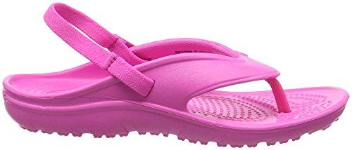 Crocs Hilo Flip K Ocean, Chaussons Mules mixte enfant Rose (Neon Magenta)