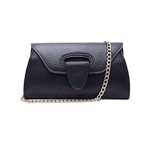 sheli-moderno-solid-carfskin-staccabile-convertible-regolabile-catena-dorata-cluth-per-donna-nero