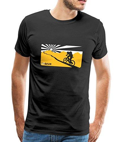 Spreadshirt Fahrrad Mountainbike Uphill Mountainbiker Männer Premium T-Shirt, M, Schwarz (Mountainbike-shirts Für Männer)