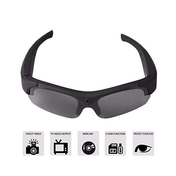 Bluetooth Gafas de Sol, Gafas estéreo Digital de los Deportes de conducción Gafas polarizadas Gafas de Sol de la cámara… 3