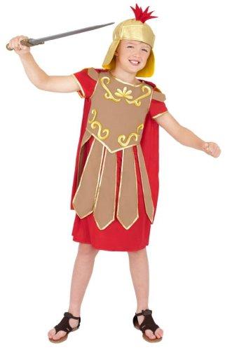 Smiffys Gladiator-Kostüm für Kinder, Größe M (Zeichen Buch Kostüm)