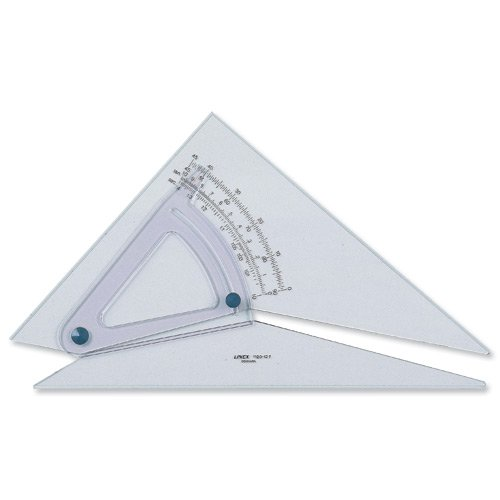 linex-set-square-adjustable-precision-05-degree-scale-bevelled-edge-long-250mm-clear-ref-lxb1120-10b