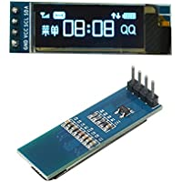 Nueva 0,91pulgadas 128x 32IIC I2C azul OLED módulo de pantalla DIY OLED LCD SSD1306controlador IC DC 3.3V 5V para Arduino PIC por Koko