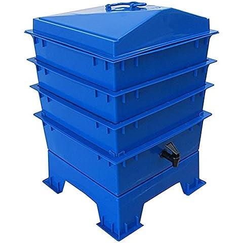 La tigre arcobaleno Wormery 4vassoio blu cobalto