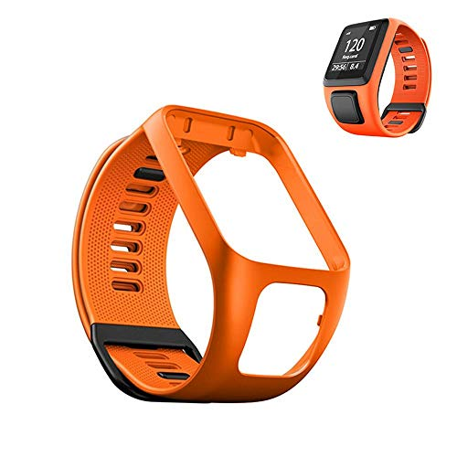 Volwco Armband Für Tomtom Runner 2/Runner 3/Spark 3/Adventurer/Golfer 2, Silikon Uhrenbänder Sport Armband Ersatzarmband Uhrenarmbänder für Tomtom Watch