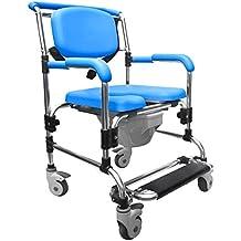 Capacidad de absorción de plegable de anotación de tareas pendientes y ducha de la silla de silla con inodoro de tirón cómodos