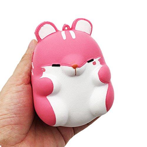 elzeug, Langsam Squeeze Steigende Niedliche Jumbo Scream Duft langsam Rising Cute Drücken Stress Relief Toy für Kids (Rosa Hamster) (Niedliche Halloween Ideen Für Teens)