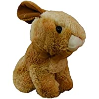 Happy Spring Plush Golden Brown Sitting Bunny by SPIRIT MARKETING