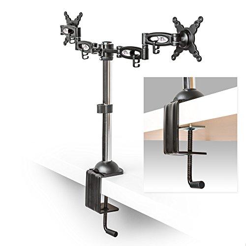 TecTake Dual 2-fach Tischhalterung LED LCD TFT Monitorhalterung PC Monitore neigbar schwenkbar - 3
