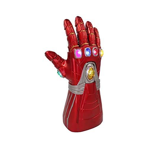 Xcxrye Hero Infinity Gauntlet Thanos Handschuh Cosplay Thanos Requisiten, Avengers Endspiel Iron Man Infinity Gauntlet Glove (LED) (A2 (für Kinder))