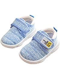 DEBAIJIA Zapatos para Niños 3-18M Bebé Caminan Zapatillas Deporte sin Cordones Transpirables Malla Ligera Antideslizante TPR-Materiale