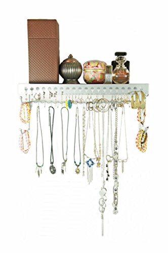 Mango Steam Schmuck-Organizer/Wand-Regal (43 cm), Silber
