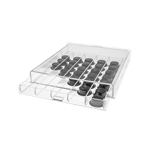 Porta capsule caffè in plexiglass trasparente
