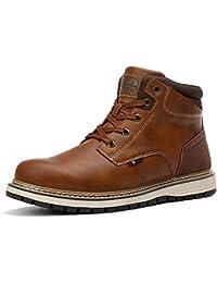 AX BOXING Hombre Botines Zapatos Botas Nieve Invierno Botas Impermeables Fur Forro Aire Libre Boots