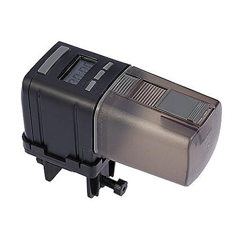 Anself Auto Aquarium Fish Tank Feeder Food Timer Feeding Dispenser - 8 Carro Armato Di Pesci