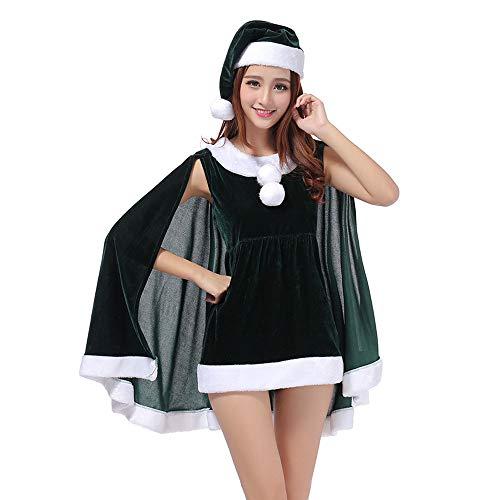 MIAO Weihnachtskostüm Adult Cosplay Schal Kleid Dance Party Party Nachtclub Kostüme Mit Sicherheitshosen Für Weihnachten/Karneval - Weihnachten Elf Dance Kostüm