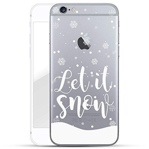 Finoo Iphone 6/6S Hard Case Handy-Hülle Weihnachten Motiv   dünne stoßfeste Schutz-Cover Tasche mit lizensiertem Muster   Premium Case für Dein Smartphone  Let it Snow Weihnachten Hard Case