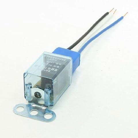 2pcs 3 alambre de la lámpara azul cerámica Socket LED Piloto de coches Flasher Relay 12VCC