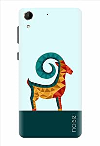 Noise Crystal Antelope-Blue Printed Cover for HTC Desire 728G Dual Sim