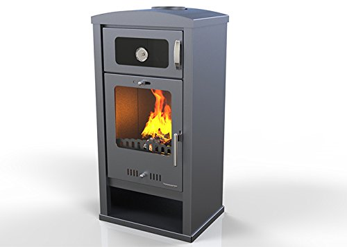 Estufa de Leña con horno TROY kW 7,5, bio clase eficiencia energética...
