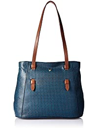 Hidesign Women's Handbag (M Blue Tan)
