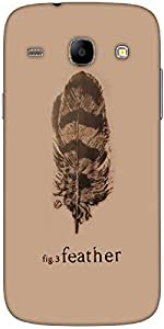 Snoogg Fig 3 Feather Designer Protective Back Case Cover For Samsung Galaxy C...