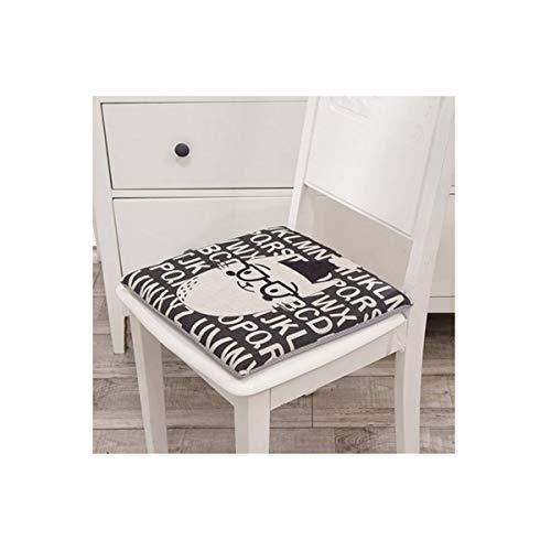 Stuhlkissen, Cartoon-Baumwoll- und Leinen-Memory-Style-Kissen aus Baumwolle, schlankes minimalistisches Design-Cartoon-Animation (Brille Cat Black, 40 × 40 × 4 cm, 16 Zoll)