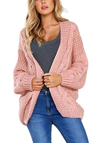 Aranmei Strickjacke Damen Grobstrick Strickmantel Strickcardigan Damen Herbst Winter Casual Open...