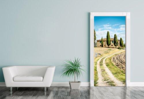 Türaufkleber - Toskana - Italien - 90 x 200 cm - selbstklebend - Aufkleber - Türbild - Tür - Bild...