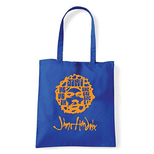Art T-shirt, Borsa Shoulder Jimi Experience, Shopper, Mare Blu