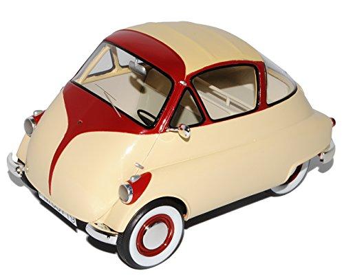 Schuco Iso Isetta Beige Rot 1/18 Modell Auto -