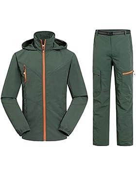 YuanDian Hombre Mujer Pareja Outdoor Primavera Verano Trekking Montaña Pantalone Chaqueta 2 Piezas Conjuntos Transpirable...