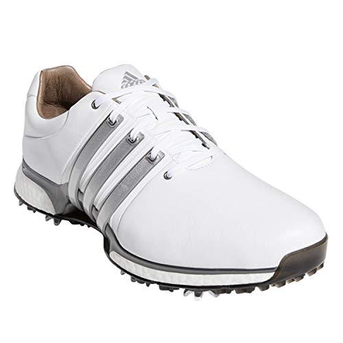 adidas, Scarpe da Golf Uomo, Bianco (White/Silver/Dk Silver), 42 EU
