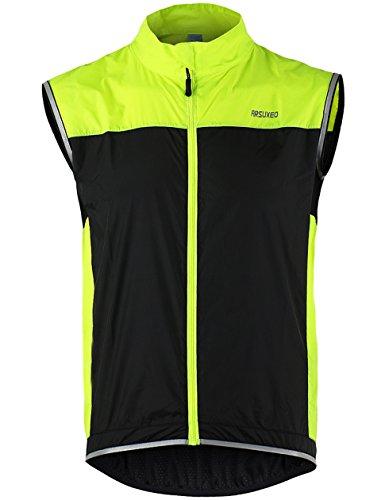 Lakaka-EU Windweste Fahrrad Leichte Ärmellose Ultradünne Mantel Jacke Laufen Wasserdicht Winddicht Atmungsaktiv Radfahren MTB Weste - Herren Rad-weste