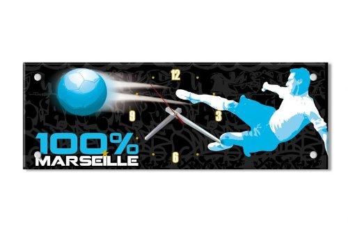 Marseille -Pendule Rectangle Marseille Foot
