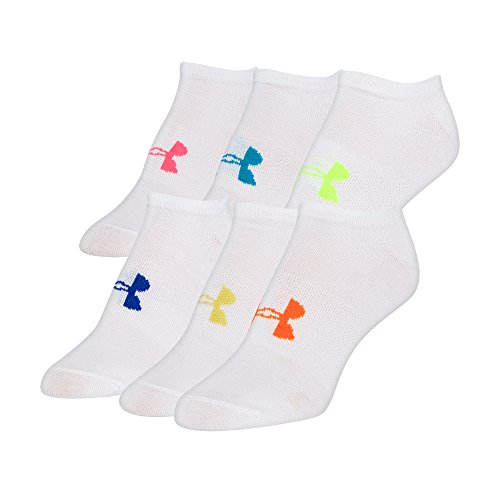 Under Armour UAW Solid 6 Pks No Show Calcetines sport, Mujer, Azul (Midnight Navy), MD