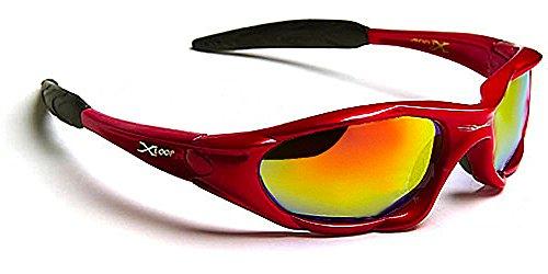 X-Loop Lunettes de Soleil - Sport - Cyclisme - Ski - Moto - Voile - Mode - Tennis / Mod. 010P Rouge Diesel Miro
